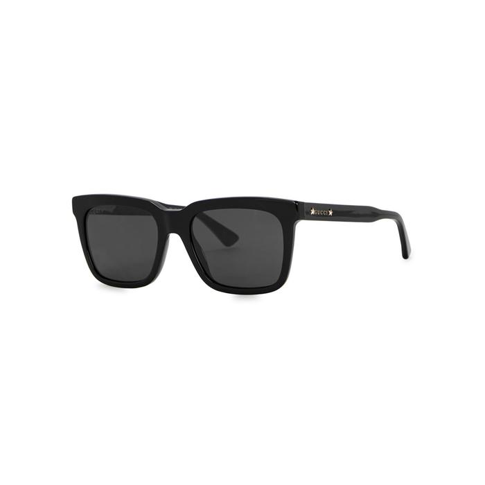 Gucci Black Wayfarer-style Sunglasses