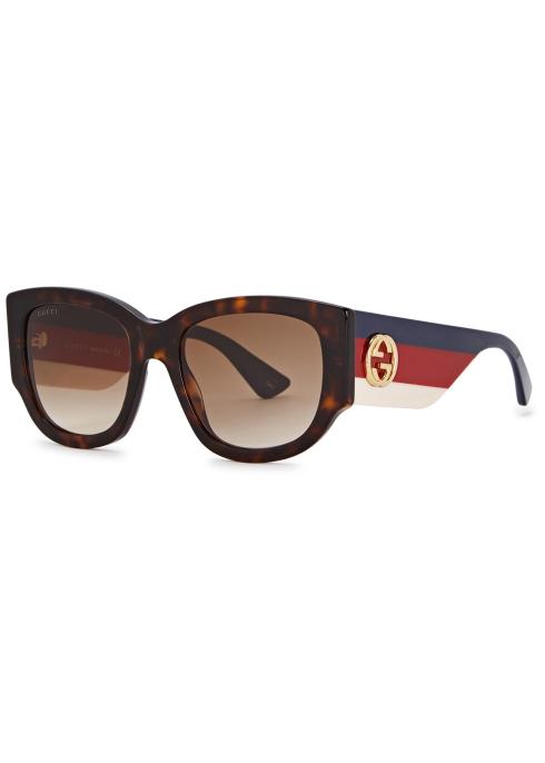 120bfe887e Gucci Tortoiseshell cat-eye sunglasses - Harvey Nichols