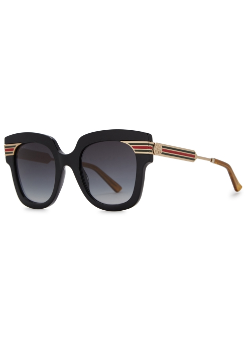 6d1ef7c6368 Gucci Black square-frame sunglasses - Harvey Nichols