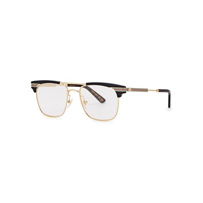 a668ce076d Gucci Black Clubmaster-Style Optical Glasses. Harvey Nichols