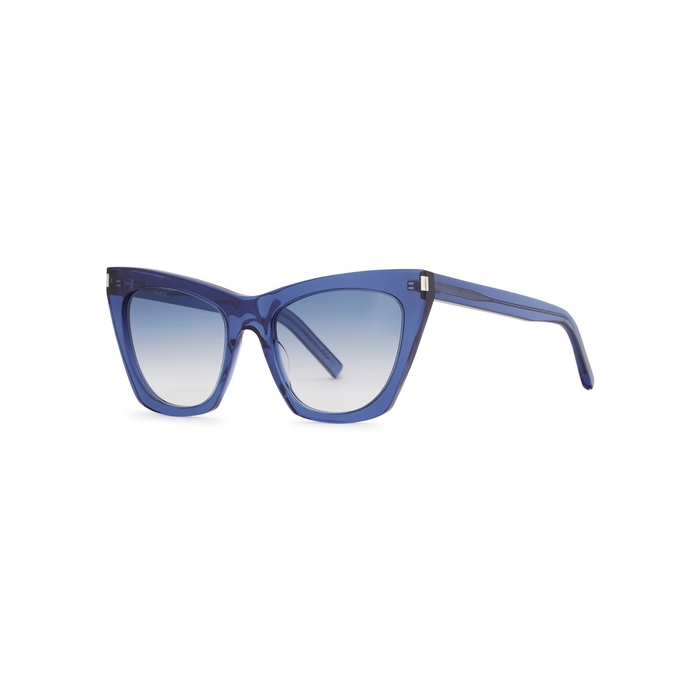 234aae75d6 Saint Laurent Sl214 Kate Blue Cat-Eye Sunglasses