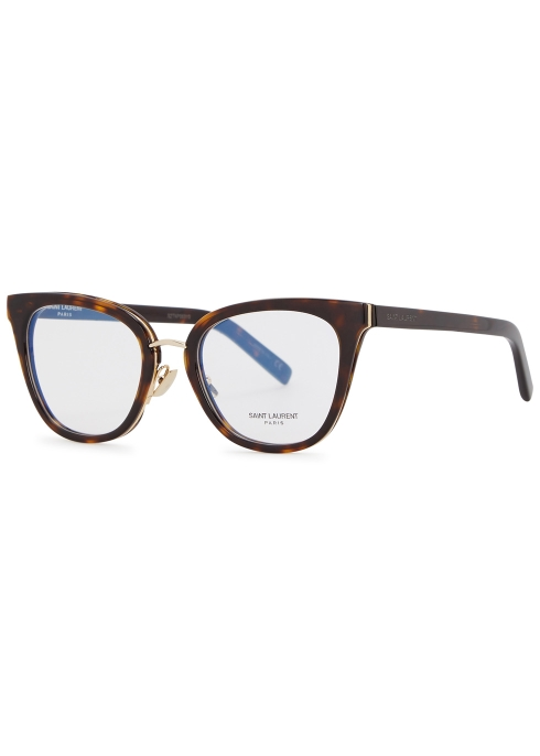 Saint Laurent Glasses SL220 TORTOISESHELL CAT-EYE OPTICAL GLASSES