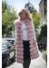 3-4 length flo fox fur gilet - dusty pink - Popski London