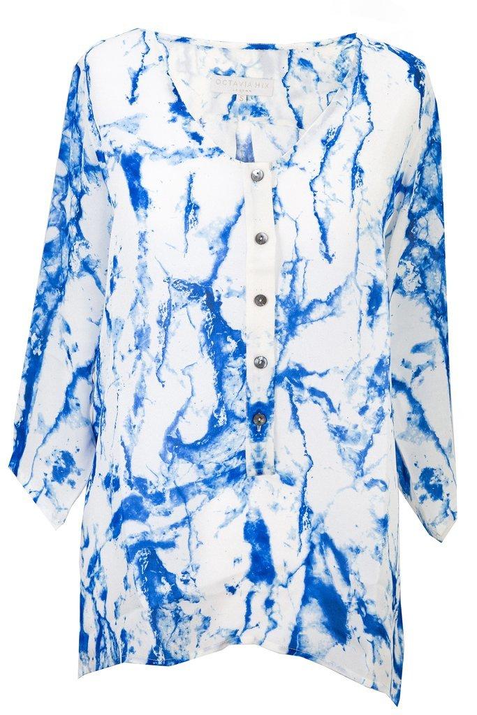OCTAVIA HIX NOVELLO SHIRT GLACIER BLUE