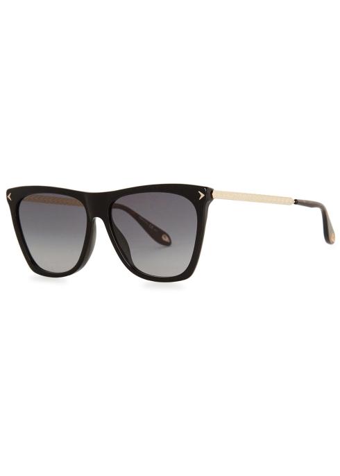 1ad4f4e10cff Givenchy Black D-frame sunglasses - Harvey Nichols