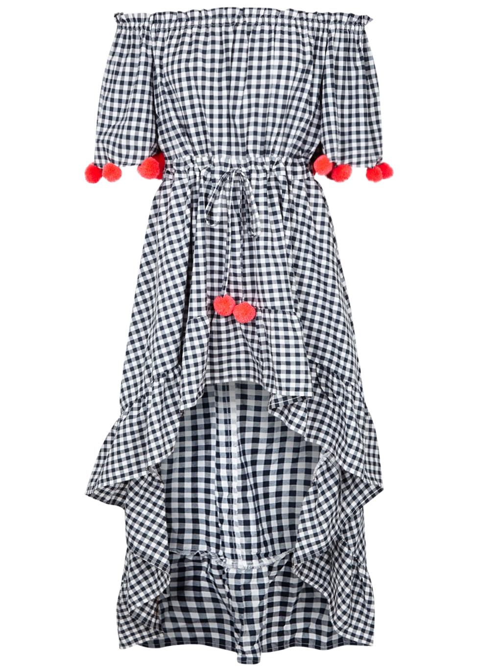 SUNDRESS ALENA GINGHAM COTTON-BLEND DRESS