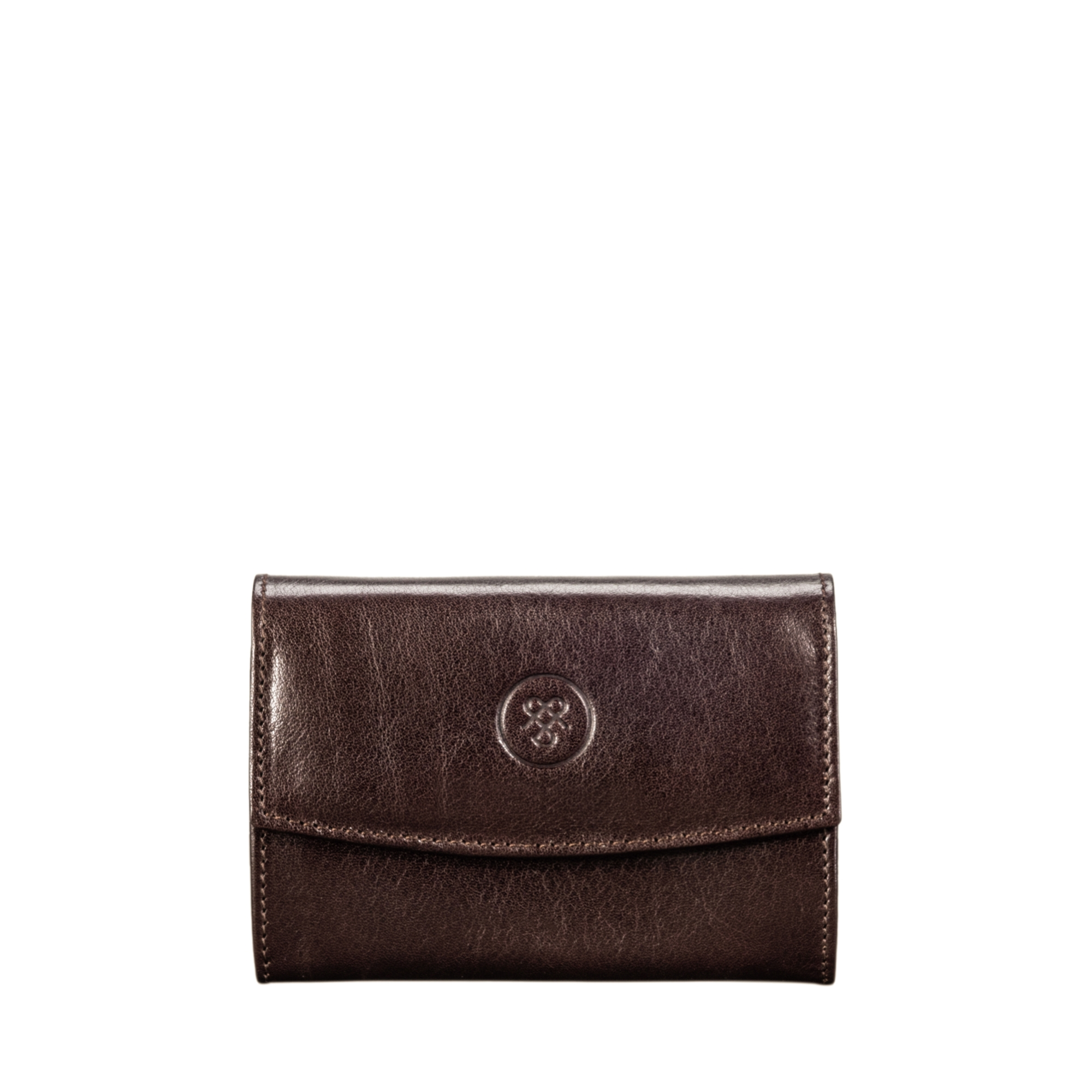 BROWN FULL GRAIN SMALL LEATHER PURSE FOR WOMEN