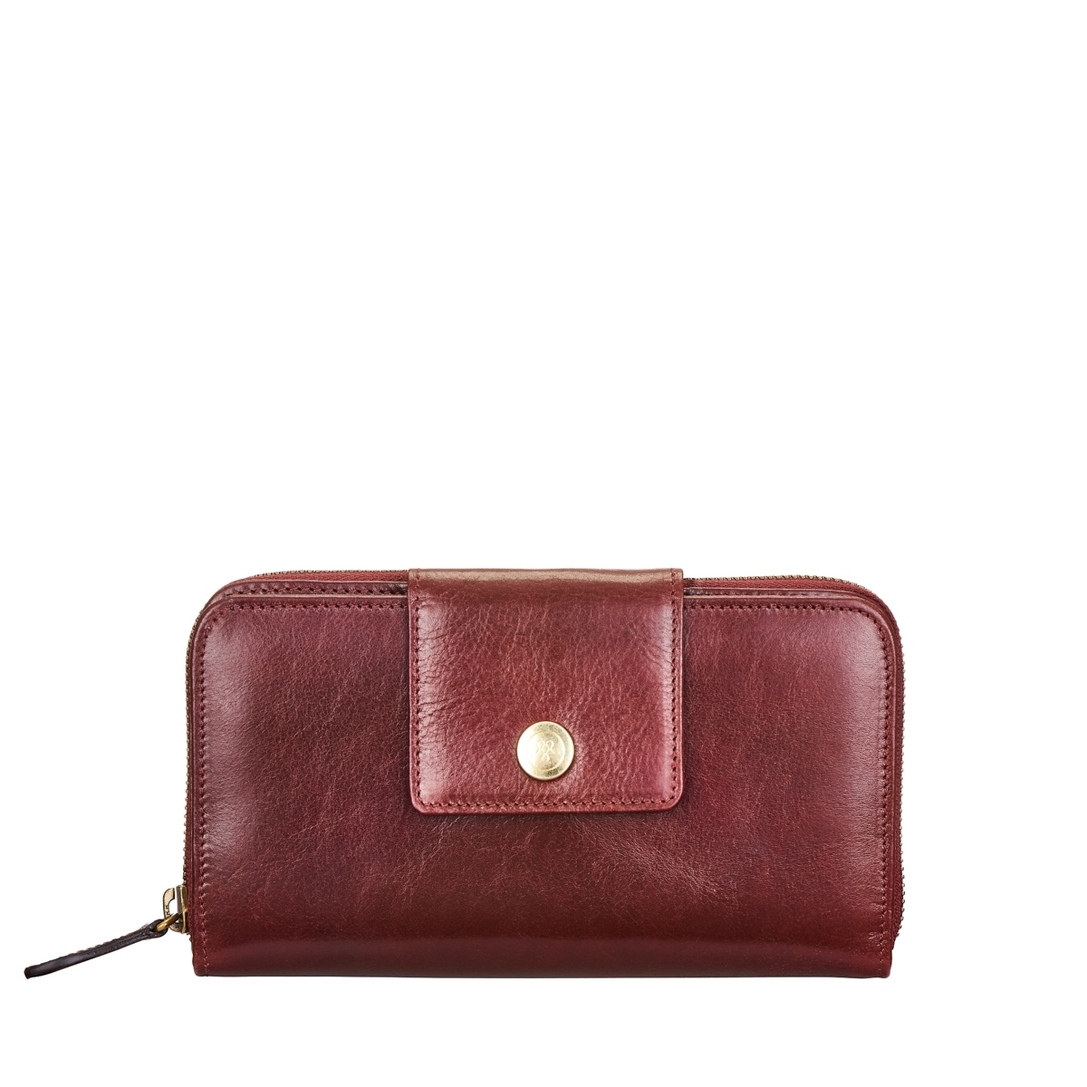LARGE ITALIAN LEATHER ZIP PURSE