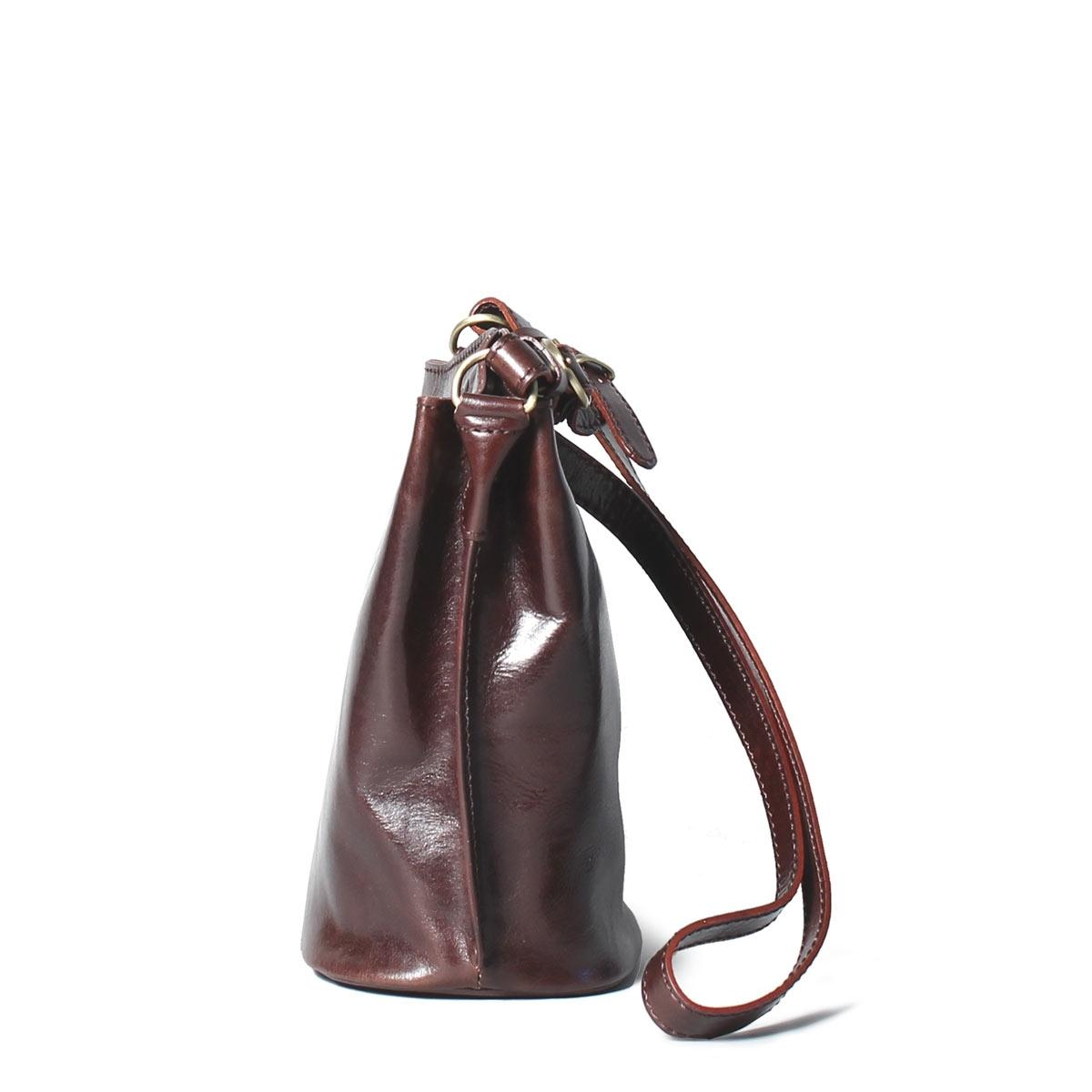 MAXWELL SCOTT BAGS Ladies Rich Brown Italian Leather Bucket Bag
