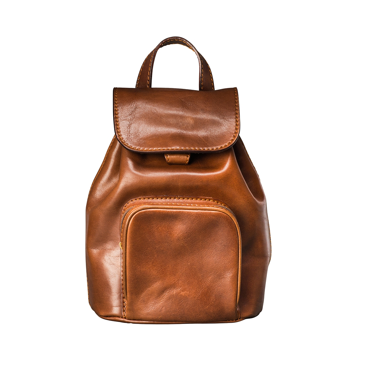 MAXWELL SCOTT BAGS Luxury Small Tan Leather Backpack For Women