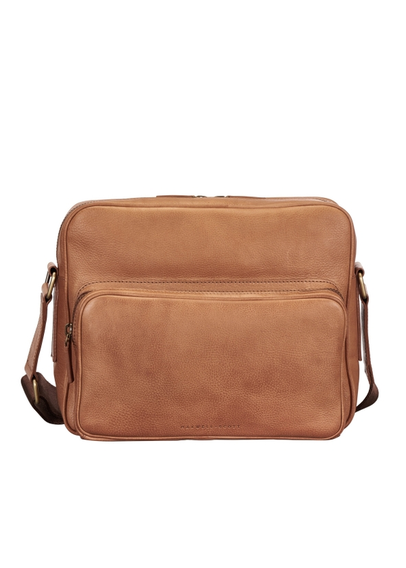 Camel Soft Full Grain Leather Men S Messenger Bag