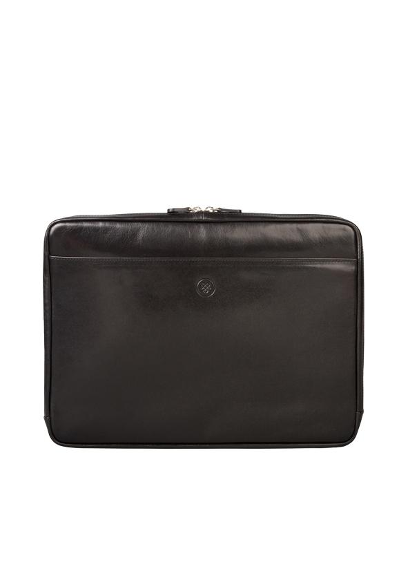 Black luxury italian leather 15 inch laptop sleeve ... 3fcb176a2cb40