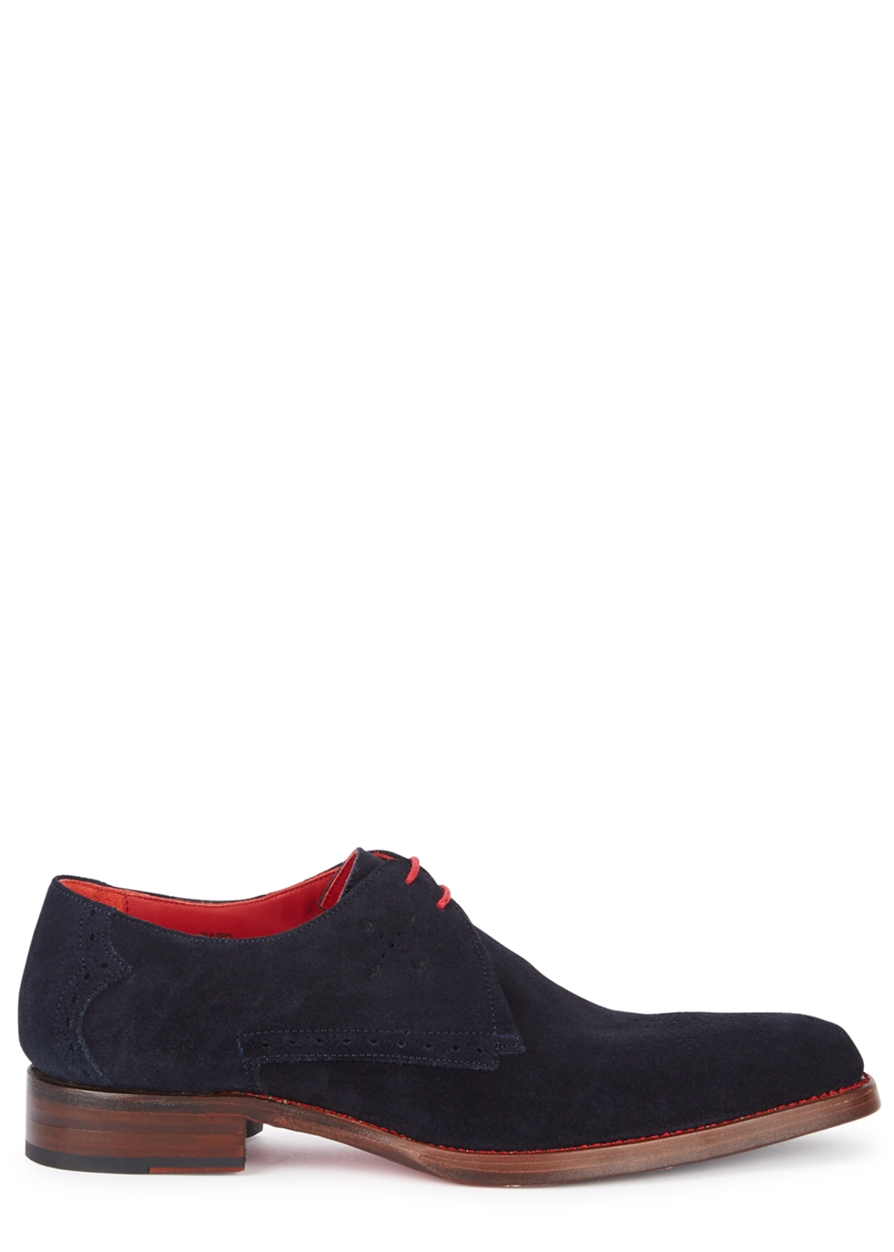 JEFFERY WEST Barb Navy Suede Derby Shoes