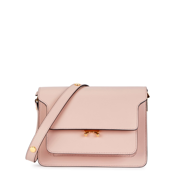 d04b6e48359e Marni Trunk Medium Blush Leather Shoulder Bag In Light Pink ...