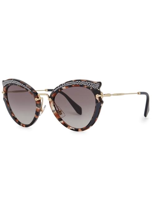6f18c0aac48 Miu Miu Tortoiseshell cat-eye sunglasses - Harvey Nichols
