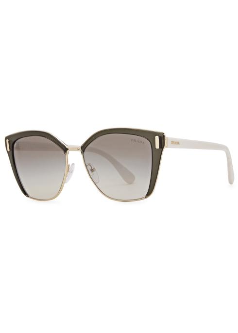 db0cb6e848 Prada Charcoal cat-eye sunglasses - Harvey Nichols