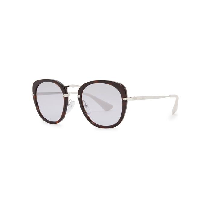 82f6c722bc PRADA Tortoiseshell Oval-Frame Sunglasses