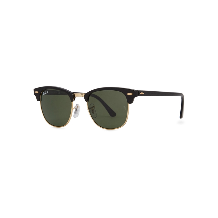 Ray-Ban Clubmaster Black Polarised Sunglasses