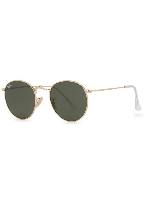 d0204e90d5 Ray-Ban Gold tone G-15 round-frame sunglasses - Harvey Nichols
