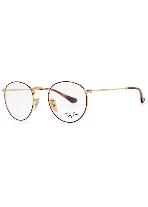 4310030bd9454 Ray-Ban Gold tone round-frame optical glasses - Harvey Nichols