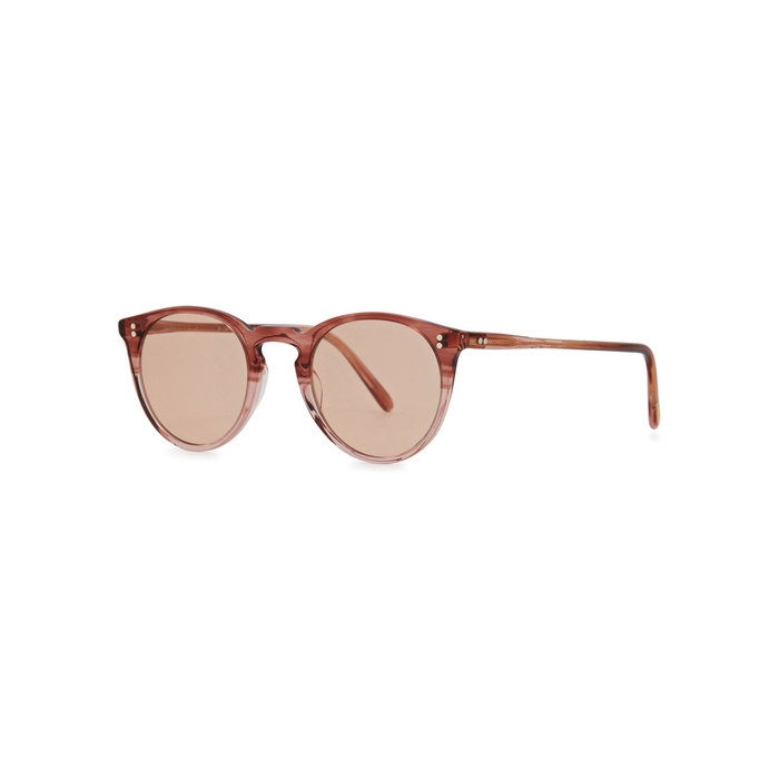 Oliver Peoples O'malley 18ct Gold-plated Sunglasses In Rose