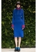 Cashmere bell sleeve dress blue - Jamie Wei Huang