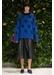 Jacquard cashmere jumper blue - Jamie Wei Huang
