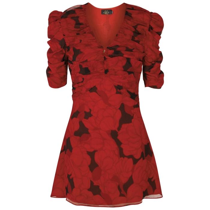 De La Vali INDIE PRINTED SILK CHIFFON DRESS