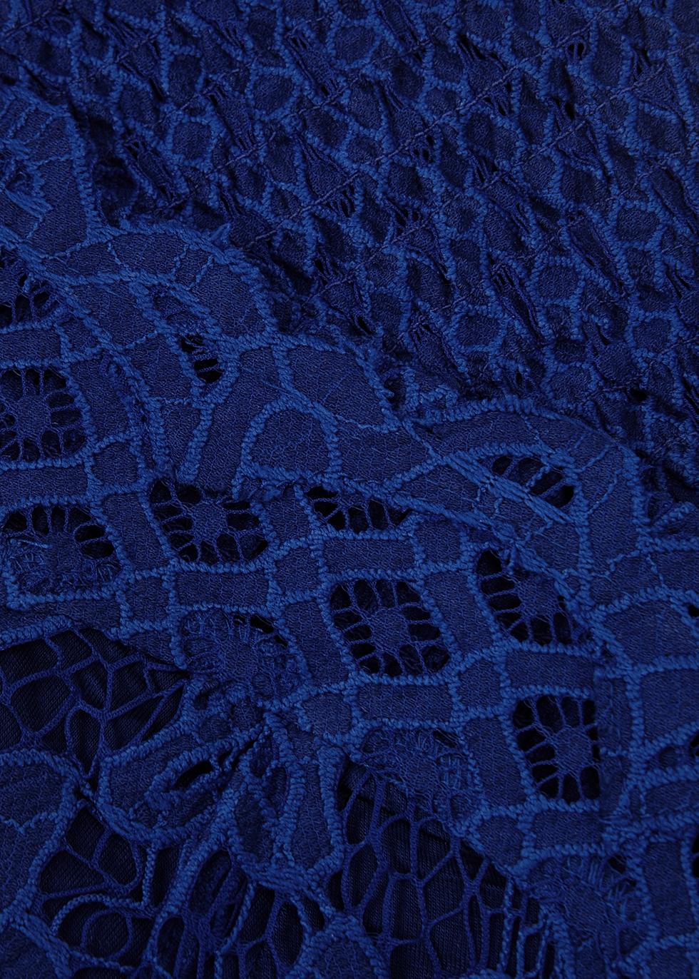 Adella blue lace bra top - Free People