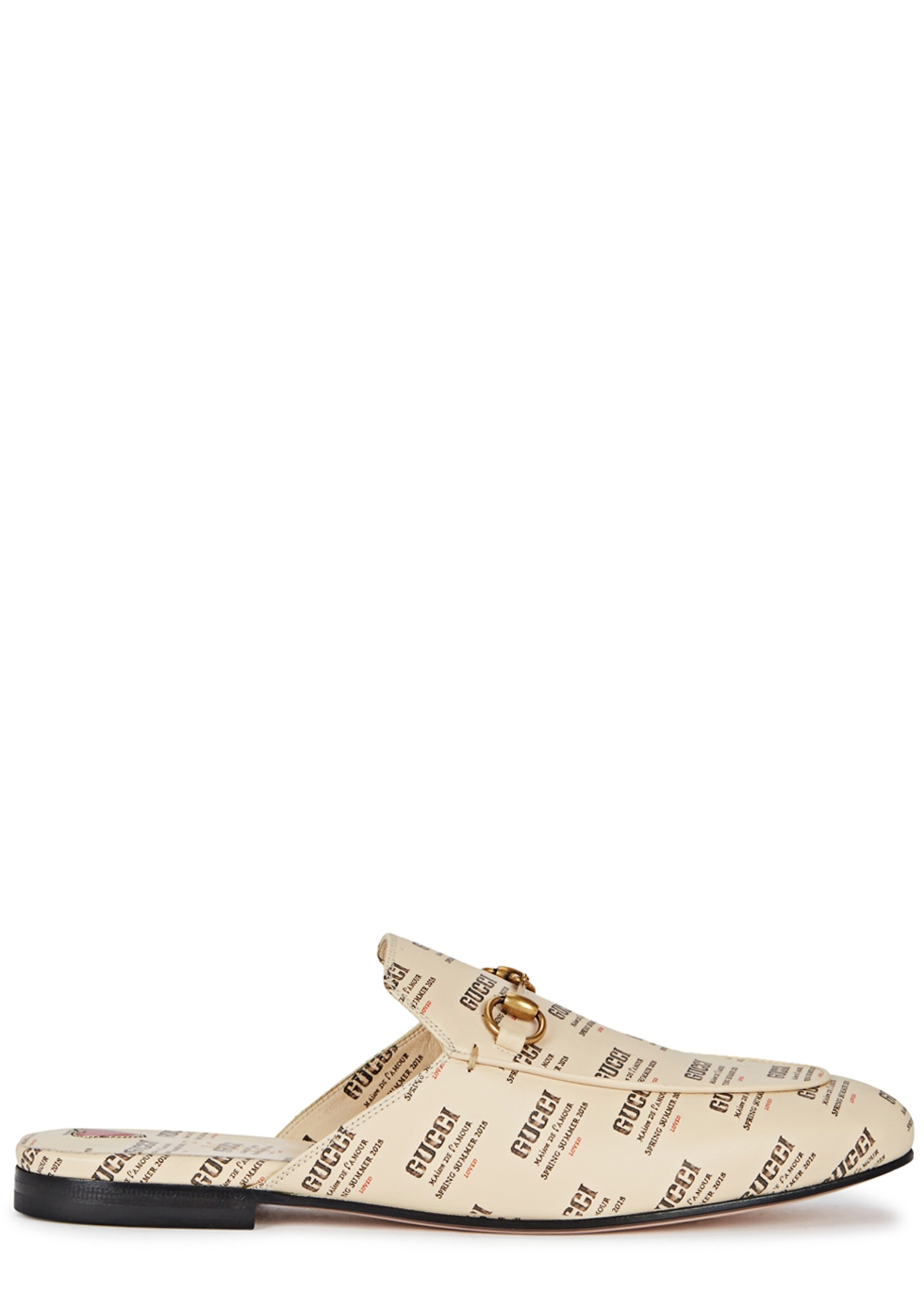 Princeton Printed Leather Loafers, Off White