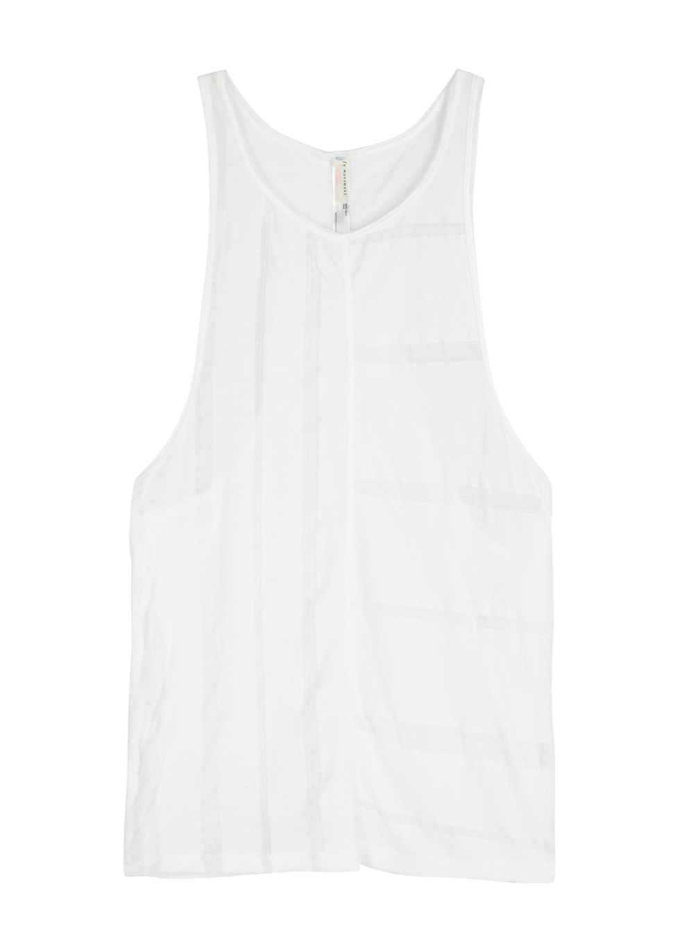 FREE PEOPLE MOVEMENT TOGETHER DISTRESSED JERSEY TANK