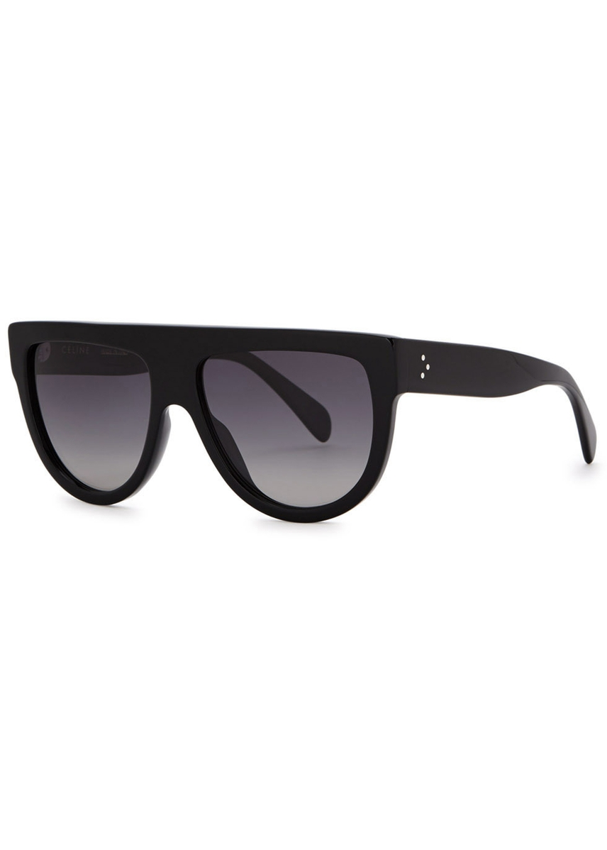 e2e87006bf Black D-frame sunglasses