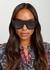 Black D-frame sunglasses - CELINE Eyewear