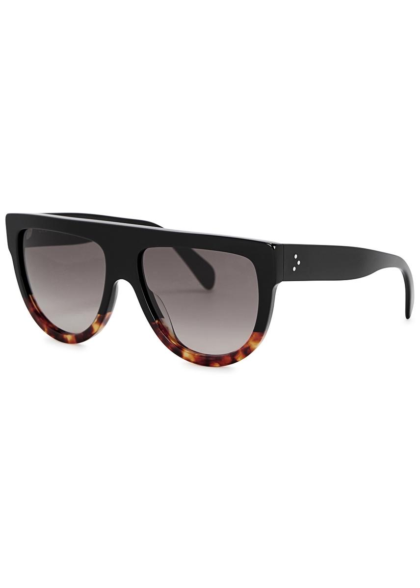 d3bb417282fe Black D-frame sunglasses. Celine