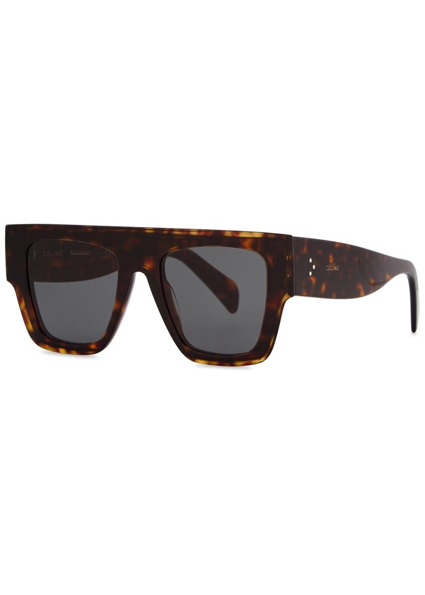 193f59c806f9 Dark tortoiseshell D-frame sunglasses. Celine