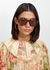 Tortoiseshell oversized sunglasses - CELINE Eyewear