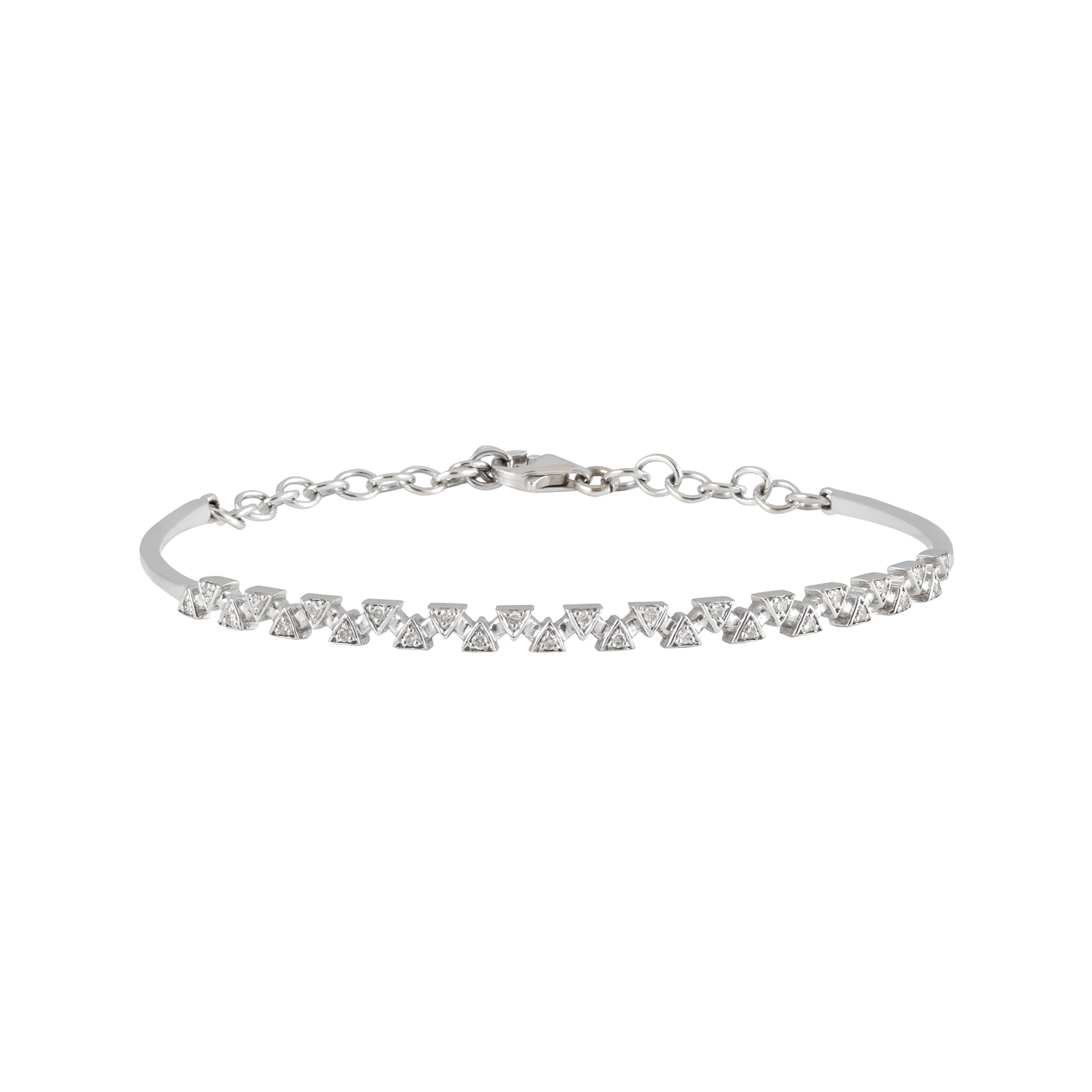 DAOU JEWELLERY Sparks Bangle - White Gold