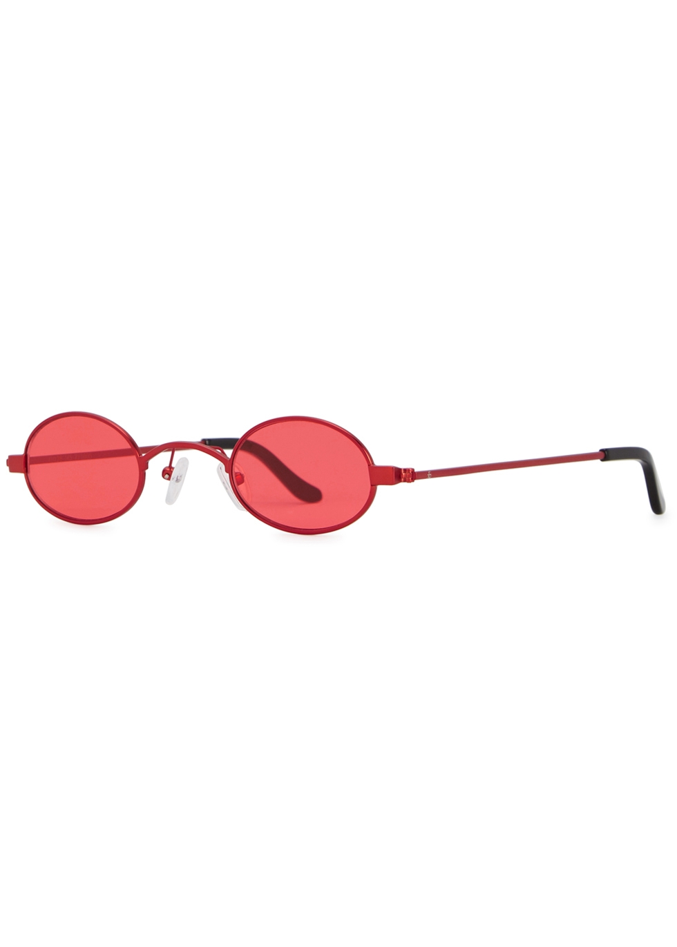 ROBERI AND FRAUD Doris Oval-Frame Sunglasses in Red