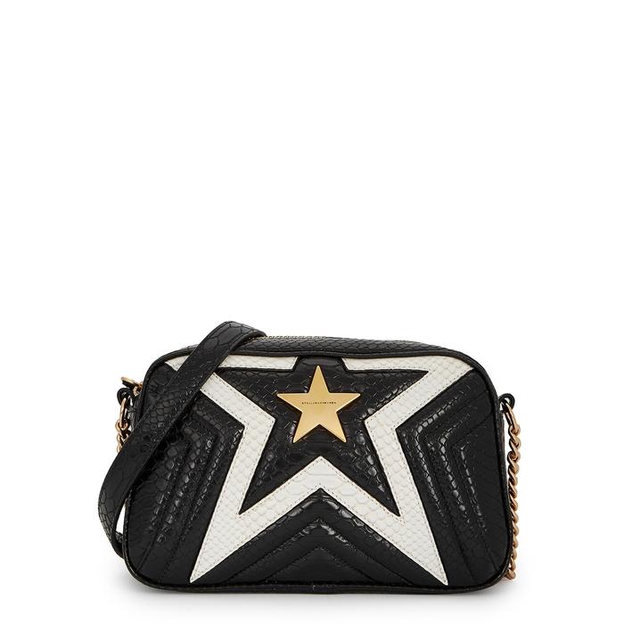 STELLA MCCARTNEY STELLA STAR SMALL MONOCHROME SHOULDER BAG 7ba618e96e94f