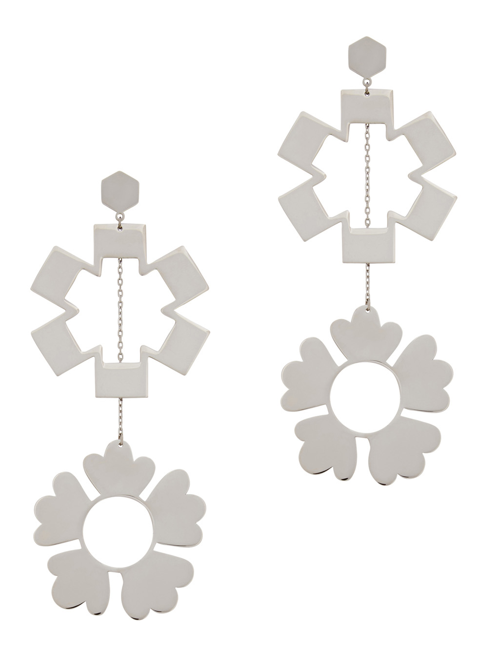 Tory Burch Geo Mismatched Drop Earrings 4bxp6rs9H
