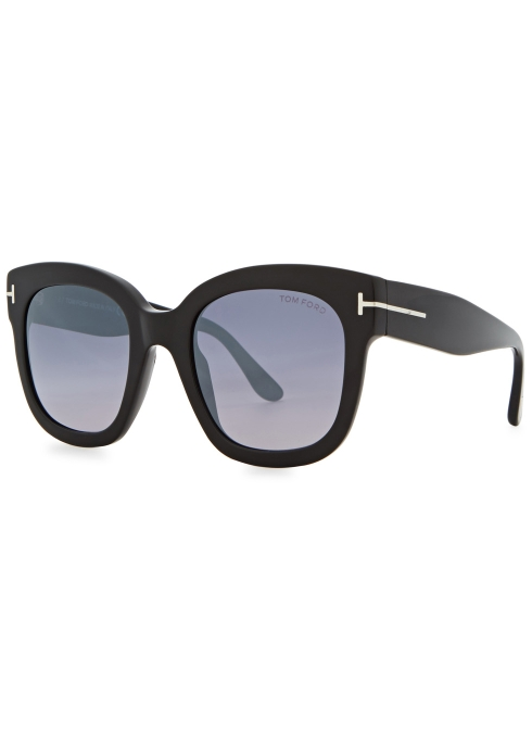 050c6fd072 Tom Ford Beatrix black square-frame sunglasses - Harvey Nichols