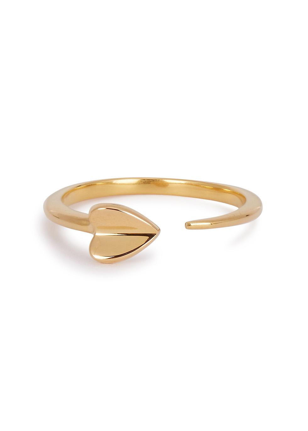 MISSOMA FOLDED HEART 18CT GOLD VERMEIL RING