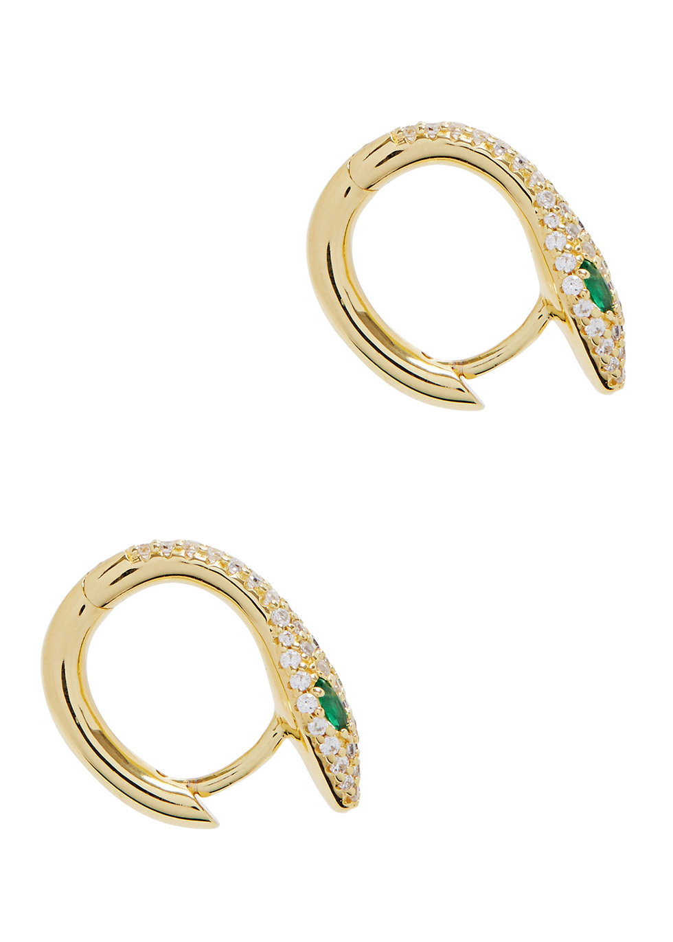 APM MONACO Rexy Snake Gold Tone Hoop Earrings