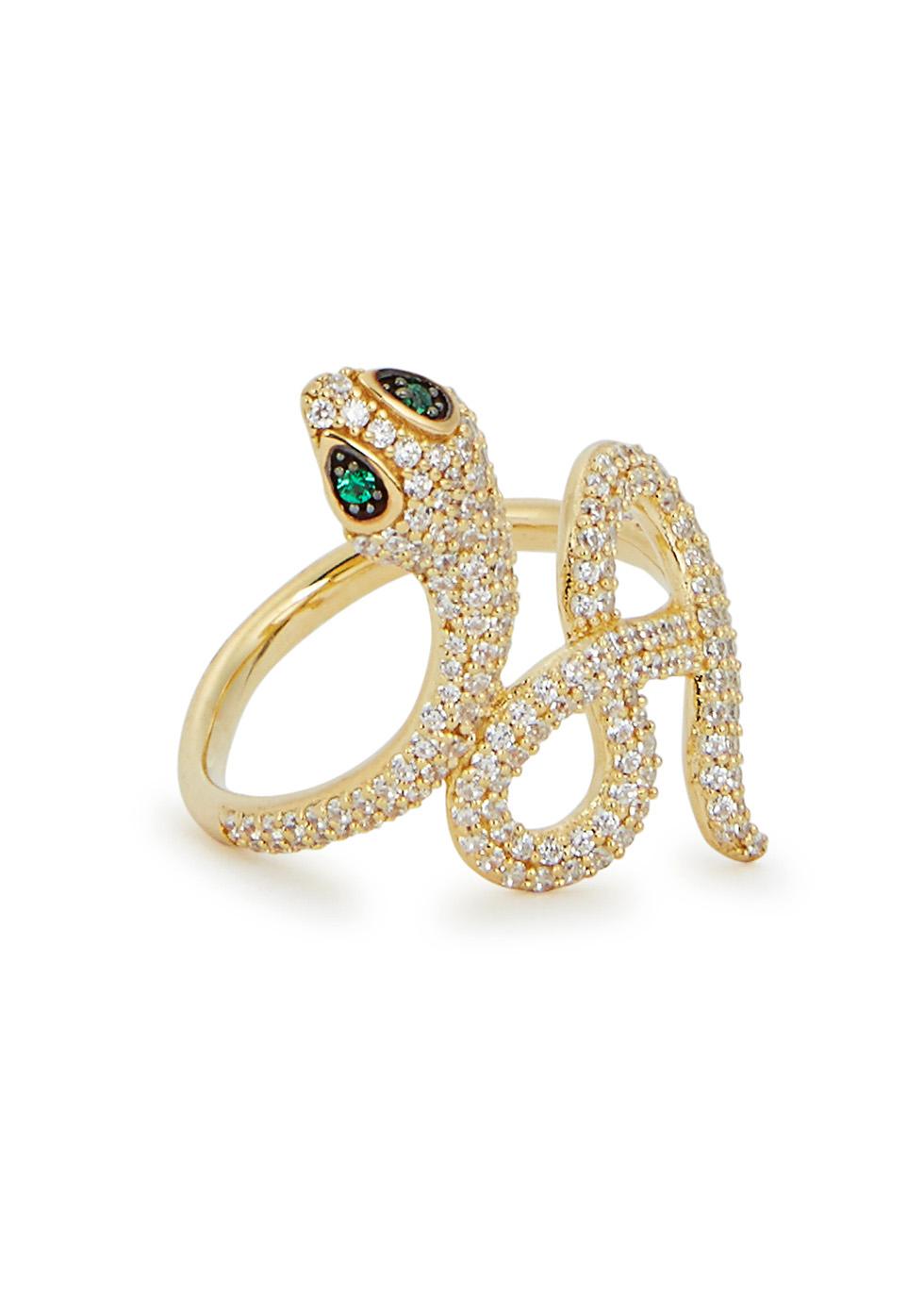 APM MONACO Rexy Snake Gold Tone Ring