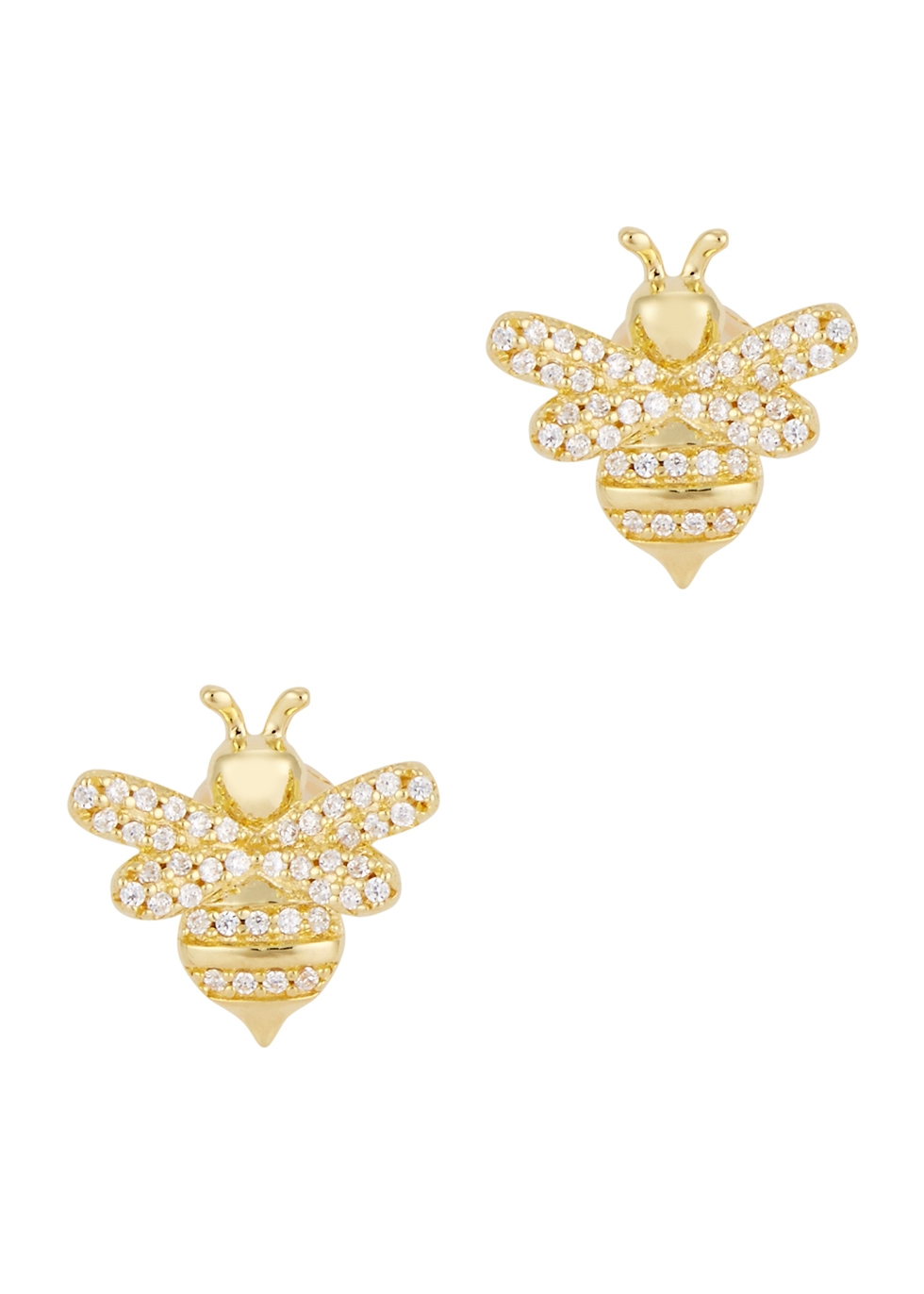 APM MONACO Bumble Bee Gold Tone Stud Earrings