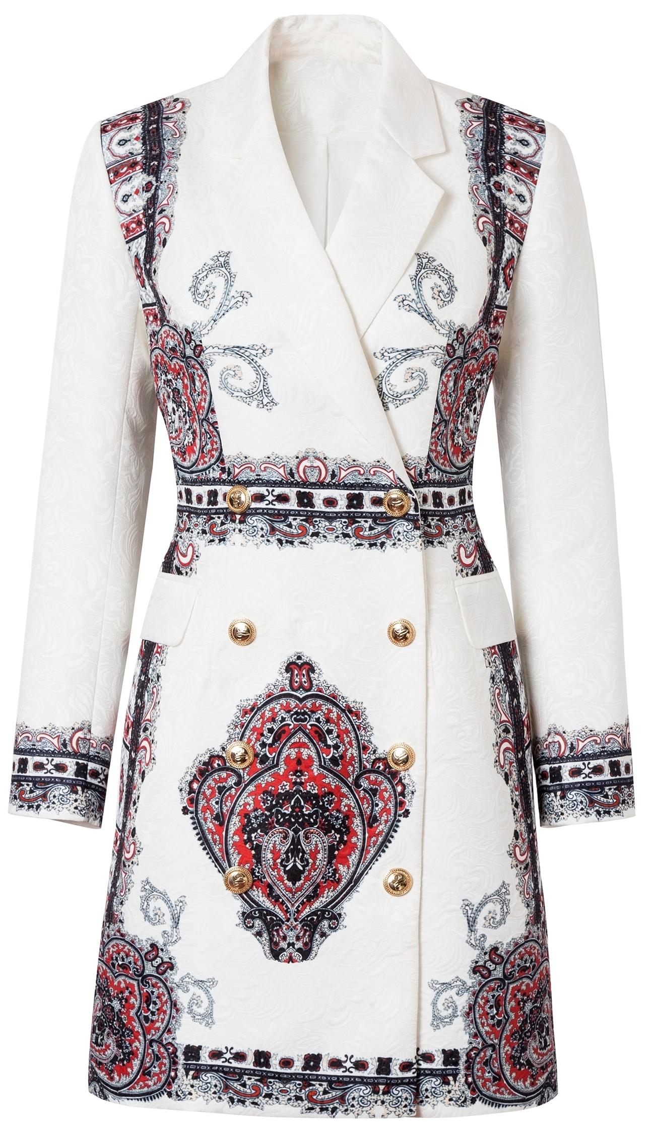 COMINO COUTURE WHITE BLAZER DRESS
