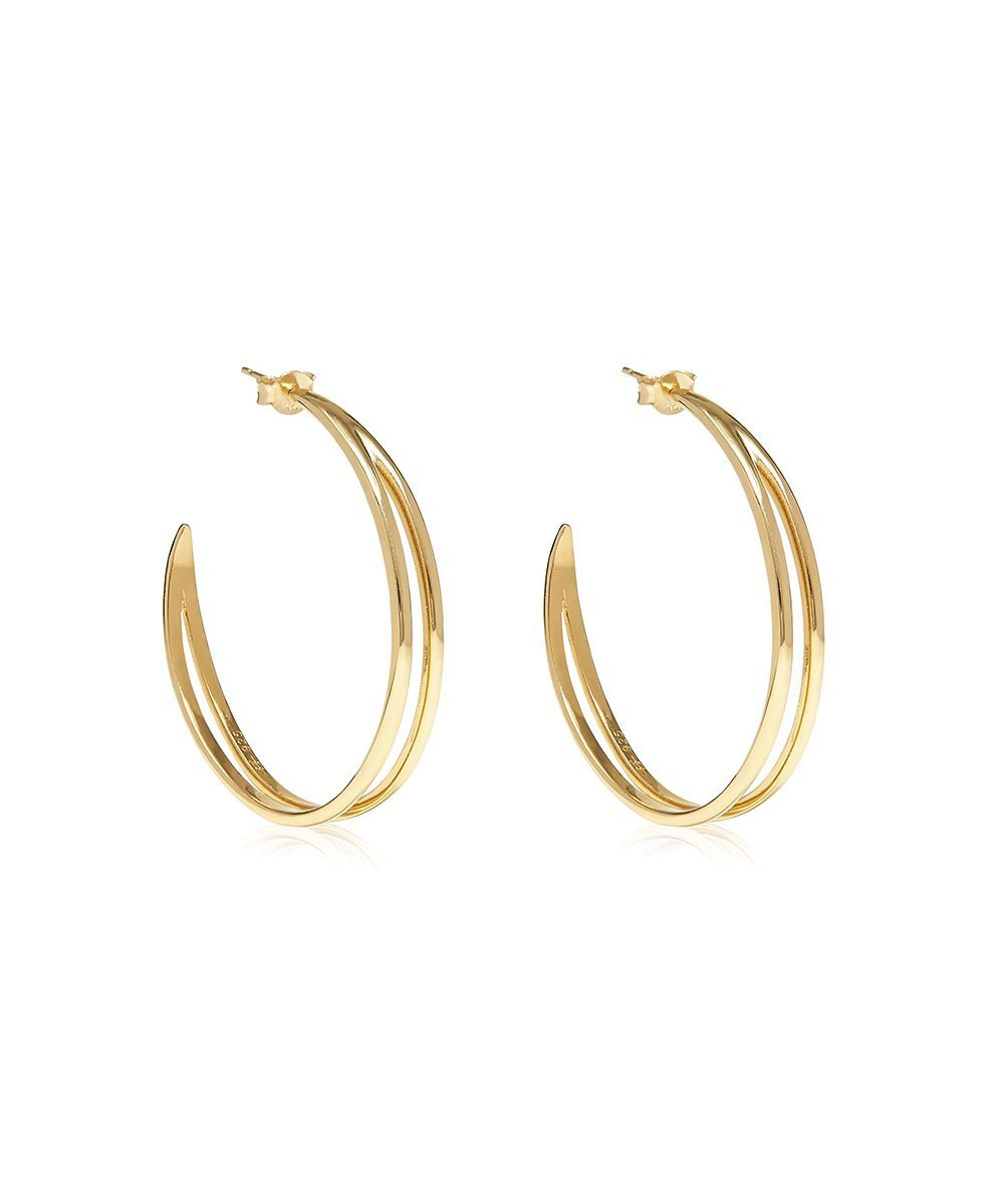 EDGE OF EMBER Converge Gold Hoops