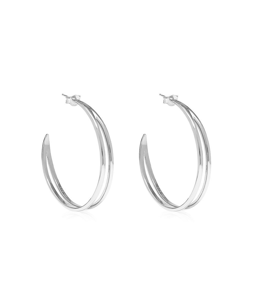 EDGE OF EMBER Converge Silver Hoops