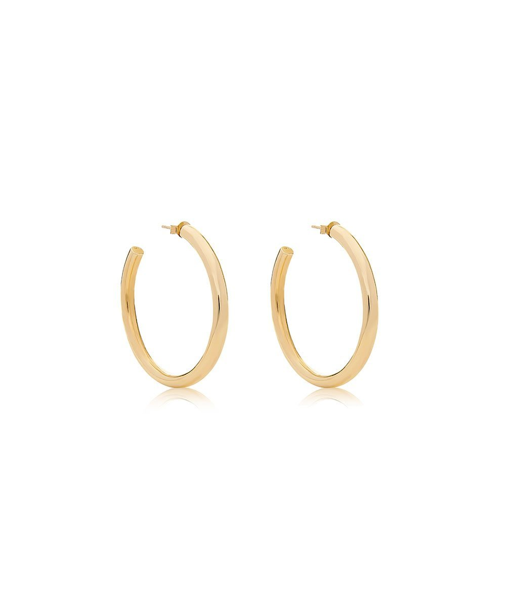 EDGE OF EMBER TUBE MINI GOLD HOOPS