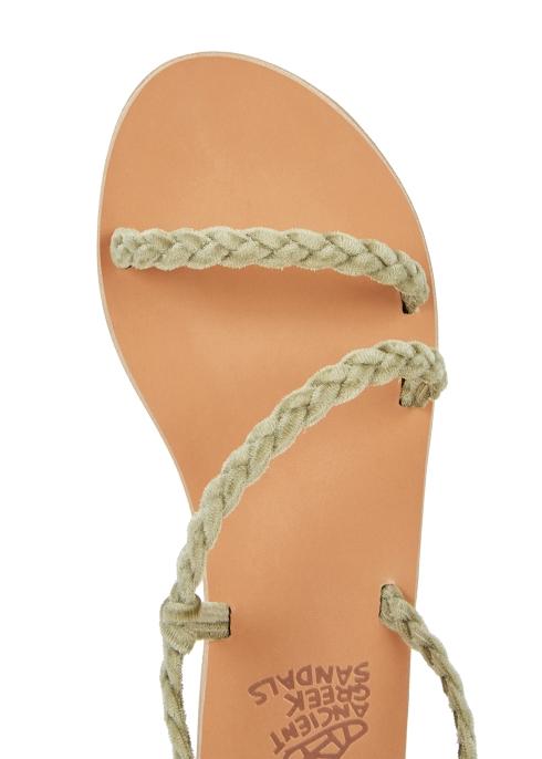 e4aebb11fe81c Ancient Greek Sandals Anaxo plaited velvet sandals - Harvey Nichols